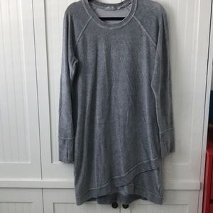 Athleta Gray Criss Cross Sweatshirt Dress - L